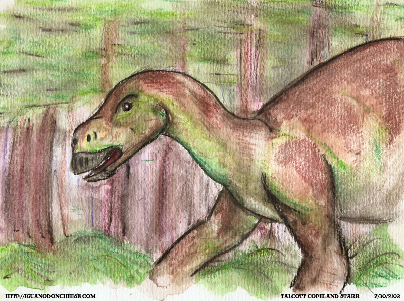 Iguanodon In The Woods
